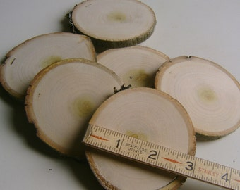 8 Coaster Size Tree Branch Slices 3 inch