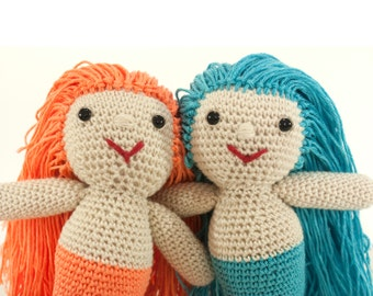 Crochet pattern mermaid -  amigurumi doll pattern - Instant Download PDF by Bigunki