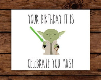 It is a photo of Hilaire Star Wars Printable Birthday Cards