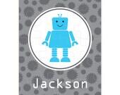 Personalized Robot Puzzle - Personalized Kids Puzzle - Robots - Pick your color!