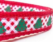 Holiday Trees - Dog Collar / Adjustable / Handmade / Pet Accessories / Christmas