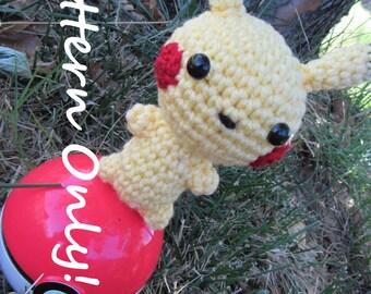 PATTERN - Crochet - Chibi Pokemon Amigurumi - Pikachu