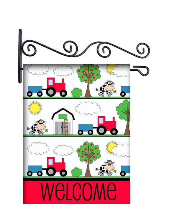 Farm Theme Custom Personalized Yard Flag 135 by by redbeauty