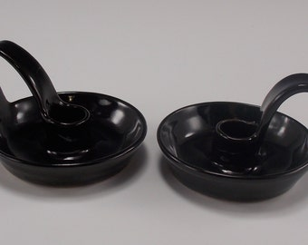 Black Taper Candle Set