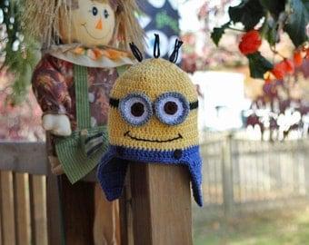 Minion Inspired Earflap Hat