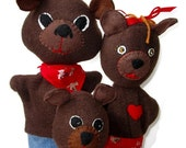 Three Bears Hand Puppet Set