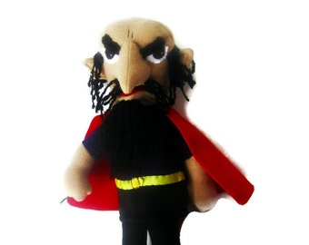 Giant Stromboli Talking  Puppet from Pinocchio/ Old Man Puppet/ Man in Red Cape