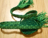 Green Viking Belt Tablet Woven from Wool