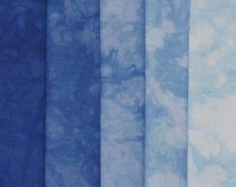 Hand Dyed Fabric - Malibu -  Shades