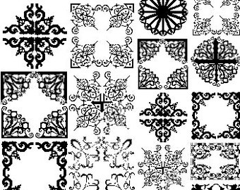 Filigree Sepia Decals for Image Transfer Onto Glass Fusible Glass Decals 040214