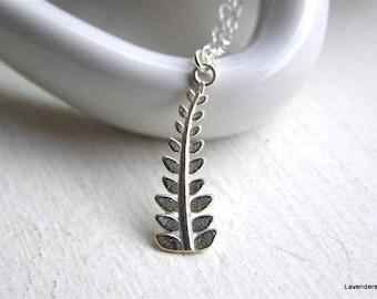Wheat Necklace , Sterling Silver wheatsheaf necklace , Wheat Harvest Necklace , Nature Necklace