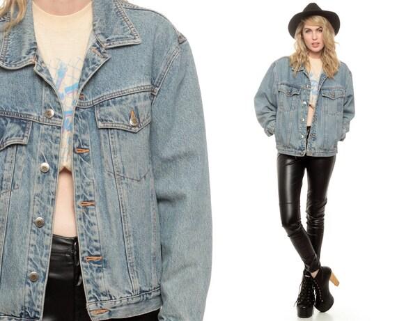 notleidende jean jacket faded denim jacke 90er jahre. Black Bedroom Furniture Sets. Home Design Ideas