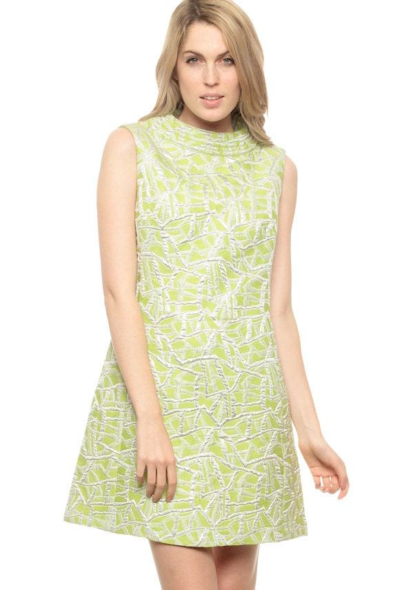 Image result for LIME GREEN BROCADE DRESS