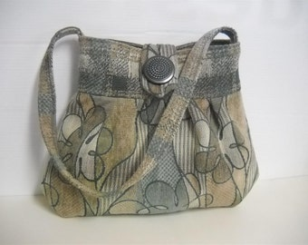 Pleated bag-  Tapestry Bag- Medium - Chenille Jacquard- by J Souza- ref.ch1