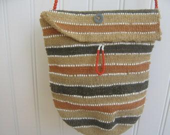 Vintage Purse Bag Hand Woven Boho