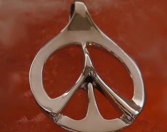 Peace Prayer Pendant, Peace Necklace, Prayer Design, Sterling Silver, Symbolic Jewelry