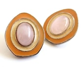 Vintage 80's Avon // Celia Sebiri Rose Quartz Earrings