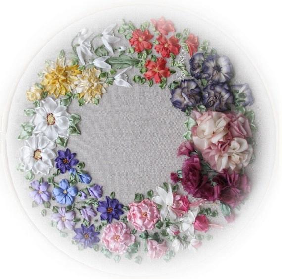 Silk ribbon embroidery beaux rubans full kit