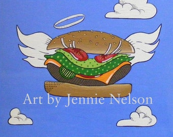 Burger Heaven Digital Download Art by Jennie Nelson