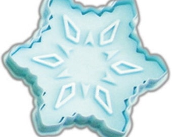 """Snowflake Cookie cutter Pastry, Christmas cookie cutter w/ plunger stamp 2.75"""" stamper, snowflake stamp"""