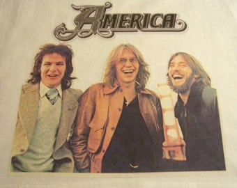 Vintage 1970 America Band Iron On Transfer Classic Rock,  Folk Rock,  Country Rock, Southern Rock
