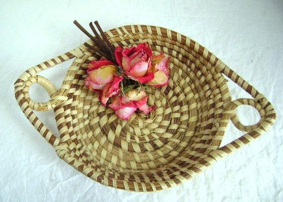 Handmade Pine Needle Baskets : Items similar to vintage handmade pine needle basket