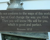 CREATE YOUR OWN Custom Carved Wood Sign Rustic Engraved Distressed Bible Verse Poem Favorite Phrase - Printed Font