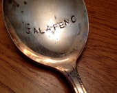 Clearance Hand Stamped JALAPENO Spoon