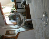 Awesome Vintage Unmarked Crystal Extra Large Wine Glasses