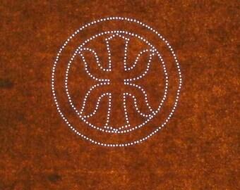 Japanese Stencil Family Crest Vintage Stencil  (ST172) Sword