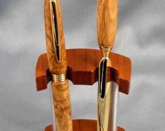 Olivewood Pen and Letter Opener Desk Set