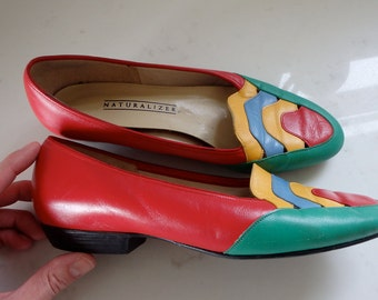 Womens Shoes Leather Flats Size 7