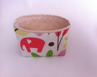 elephant fabric mini storage bin // small basket //  perfect for nursery