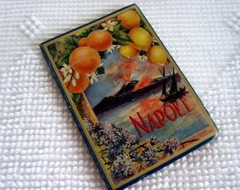 Vintage Post Card Set Landscape Cityscape People Souvenir Travel Nostalgic Art Panorama Vista Postcards ITALY NAPLES