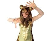 Disco Tiger Romper - gold tummied tiger playsuit