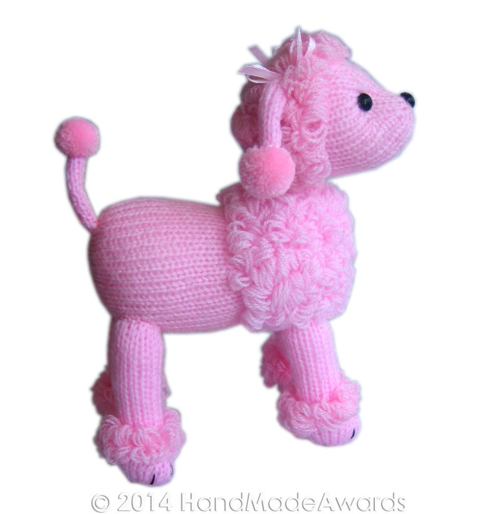 Marilyn The Pink POODLE Pdf Email Knit PATTERN