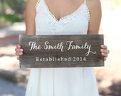 Personalized Rustic Wood Family Sign (Item Number MHD20009)