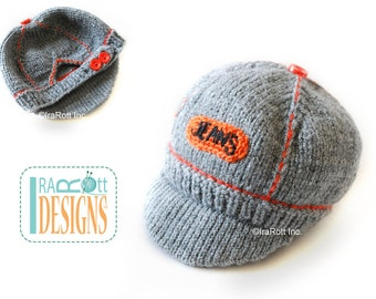 Jeans Inspired Hand Knit Cap for Newborns READY to SHIP