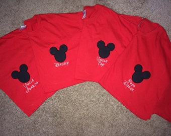 Mickey Mouse tee with name