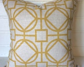 Goldenrod trellis accent pillow cover throw pillow cover designer pillow cover