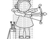 Pure Innocence 054 - Digi stamp - Instant Download Digital Digi Stamp - printable