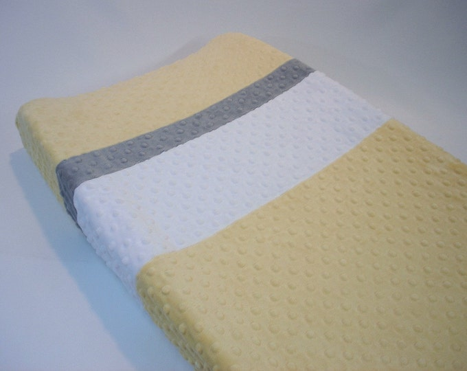 Buttercup Yellow Changing Pad Cover with Stripes