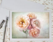 Rose Photo Notecard - Bouquet of Roses, Floral Stationery, Blank Notecard, Greeting Card, Birthday Card