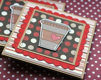 Coffee Giftcard Wallet, Thanks a Latte, Coffee Pun, Coffee Lover Gift, Money Wallet, Thank You Card