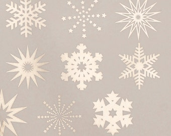 SALE- Snowflake Decal Package- 6 sheets on SALE
