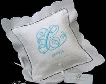 Irish Linen Ring Bearer Pillow, Style 8633