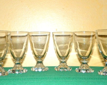 6 Boopie 4 1/2 Inch Juice Glasses made by Anchor Hocking, 12 Available
