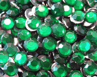 1000 5mm Acrylic Round Crystal Rhinestones Flat Back SS20 N70-10  Emerald