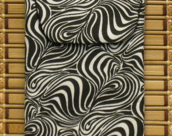 Eyeglass Case / Cell Phone Case---Zebra Print with Magnetic Closure