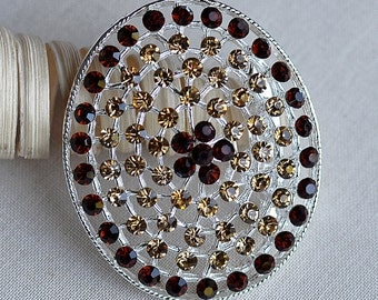 Rhinestone Brooch Crystal Chocolate Brown Topaz Citrine Brooch Bouquet Hair Pin Comb Shoe Clip Wedding Cake Invitation BR332